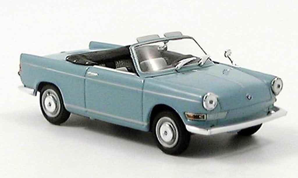 Bmw 700 1/43 Minichamps S Cabriolet grisebleu 1961 miniature