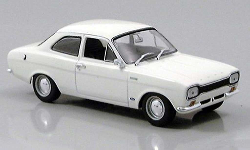Ford Escort MK1 1/43 Minichamps I TC blanche RHD 1968 miniature