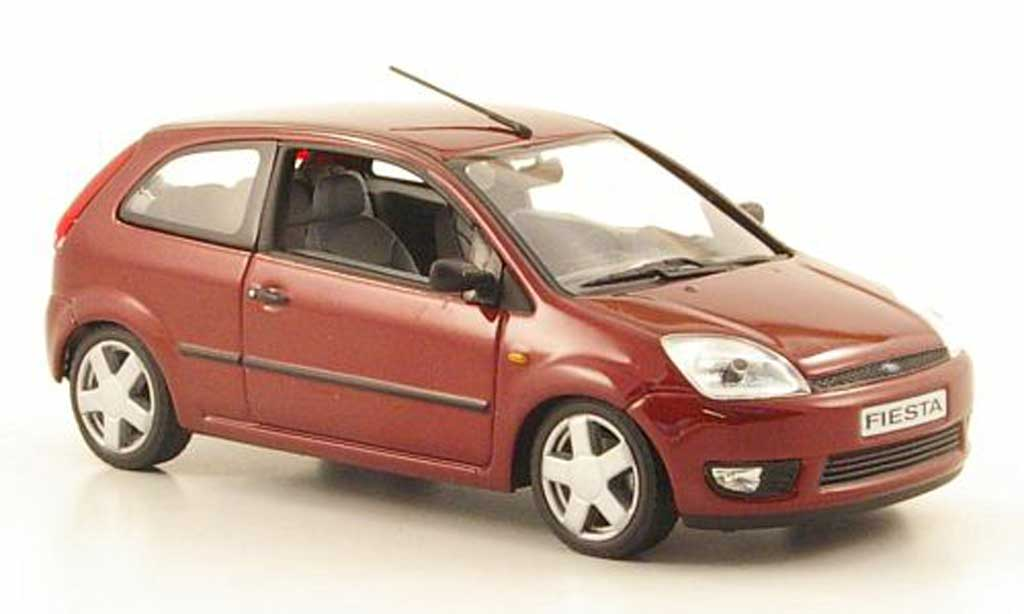 ford fiesta 2002 met red minichamps diecast model car 1. Black Bedroom Furniture Sets. Home Design Ideas