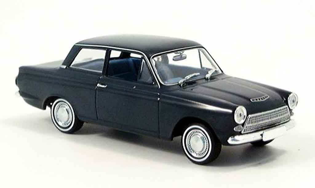 Ford Cortina 1/43 Minichamps MK I bleu 1962 miniature