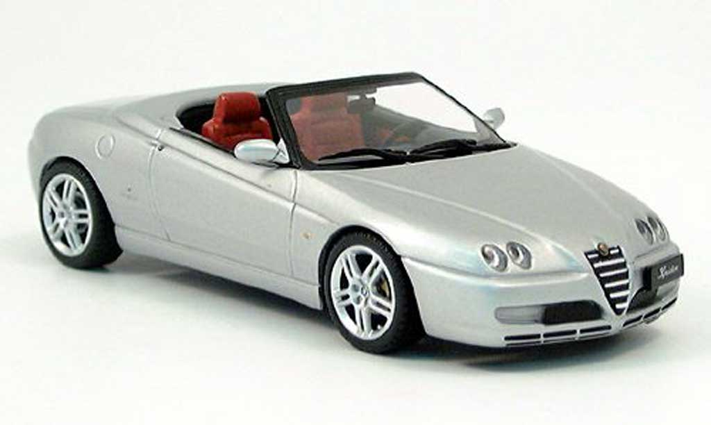 alfa romeo spider 2003 spider gray minichamps diecast model car 1 43 buy sell diecast car on. Black Bedroom Furniture Sets. Home Design Ideas