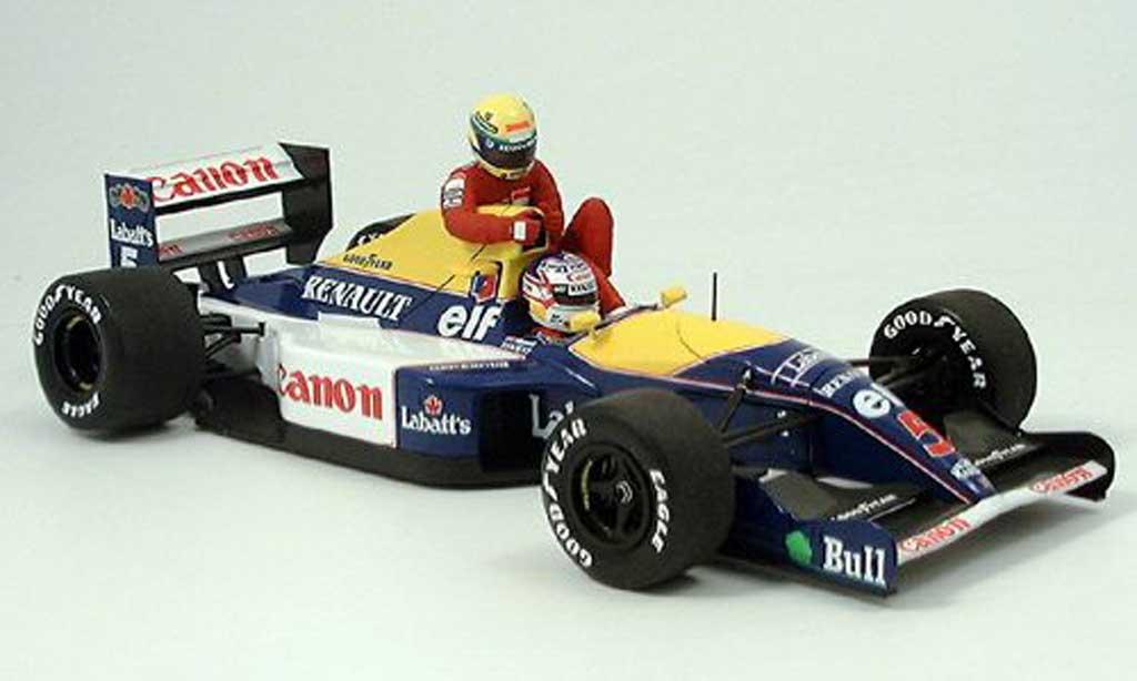 Renault F1 1/18 Minichamps williams fw 14 mansell-senna gp gb 1991 miniature