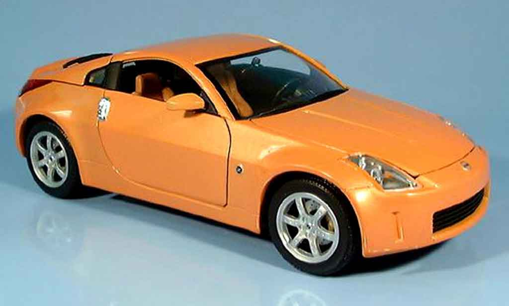 Nissan 350Z 1/18 Yat Ming coupe orange 2003 miniature