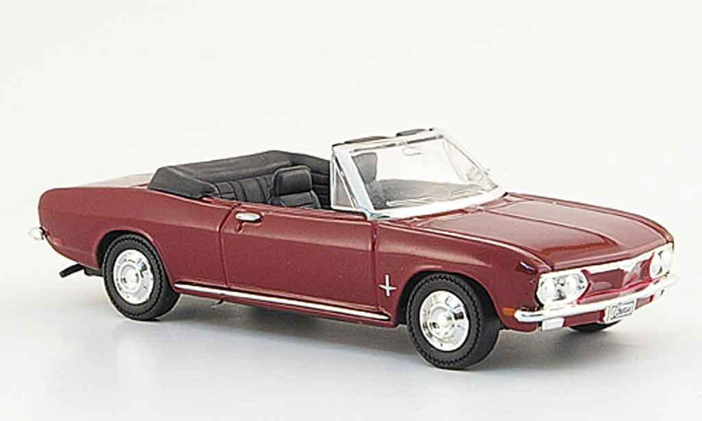 Chevrolet Corvair 1/43 Yat Ming Monza rouge 1969 miniature
