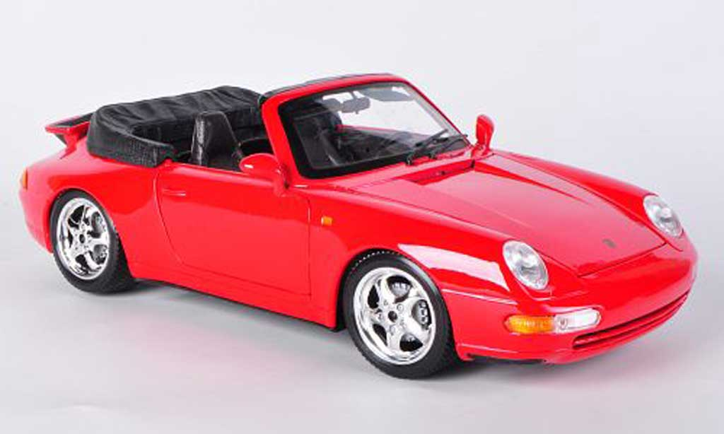 porsche 993 cabriolet carrera rot burago modellauto 1 18. Black Bedroom Furniture Sets. Home Design Ideas