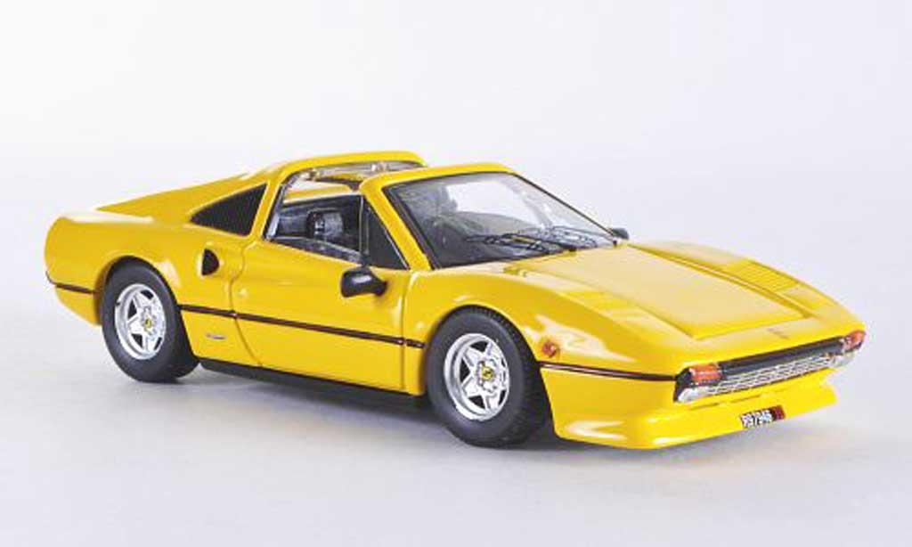 Ferrari 308 GTS 1/43 Best jaune Dach liegt bei 1978 miniature