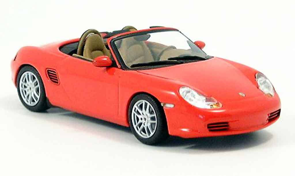Porsche Boxster 1/43 Minichamps red 2002 diecast model cars