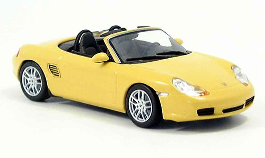 Porsche Boxster 1/43 Minichamps S yellow 2002 diecast model cars