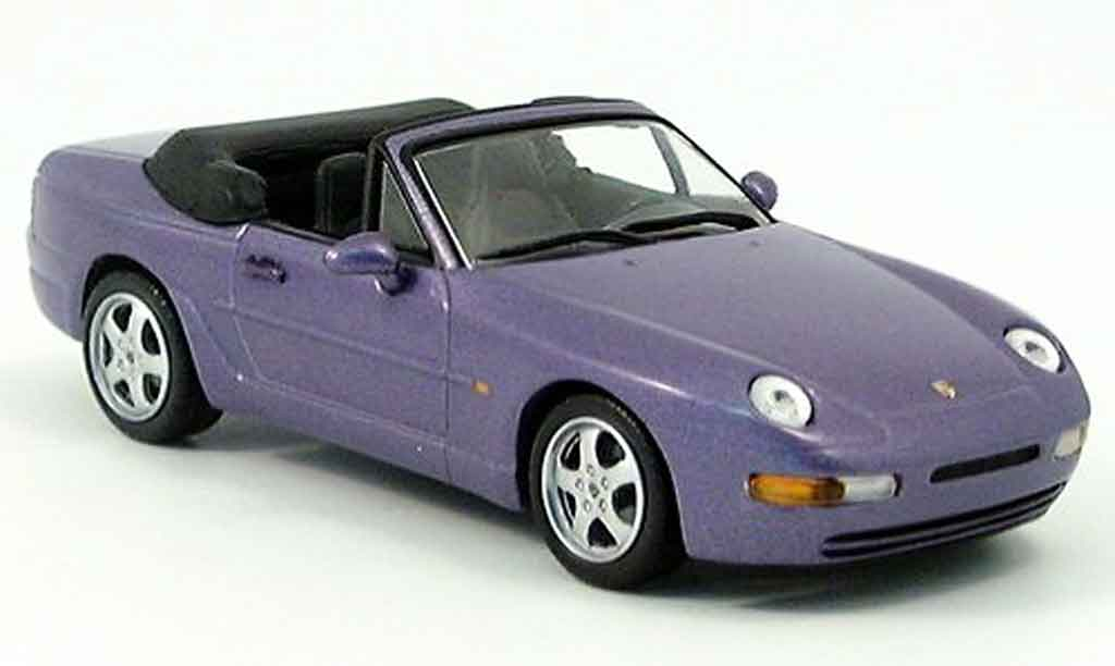 Porsche 968 Cabriolet 1/43 Minichamps purple miniature
