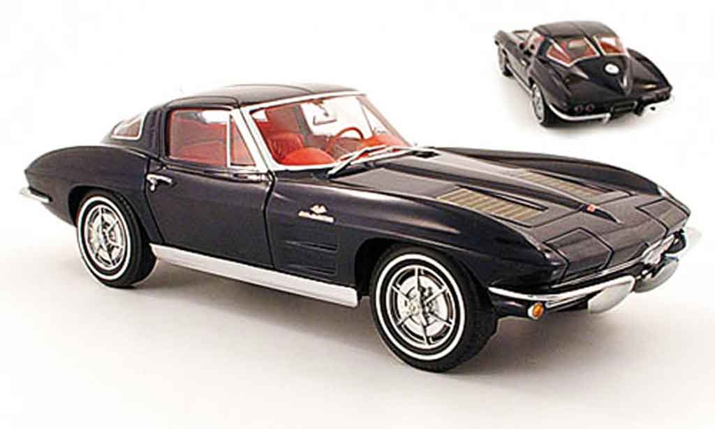 Chevrolet Corvette C2 1/18 Autoart coupe (c2) bleu 1963 diecast model cars