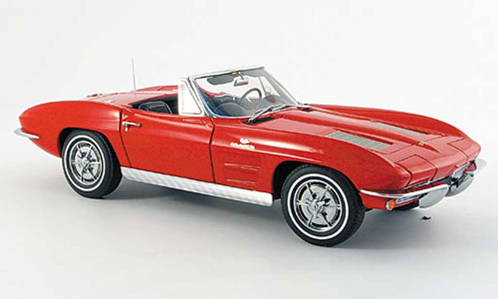 Chevrolet Corvette C2 1/18 Autoart convertible red 1963 diecast model cars