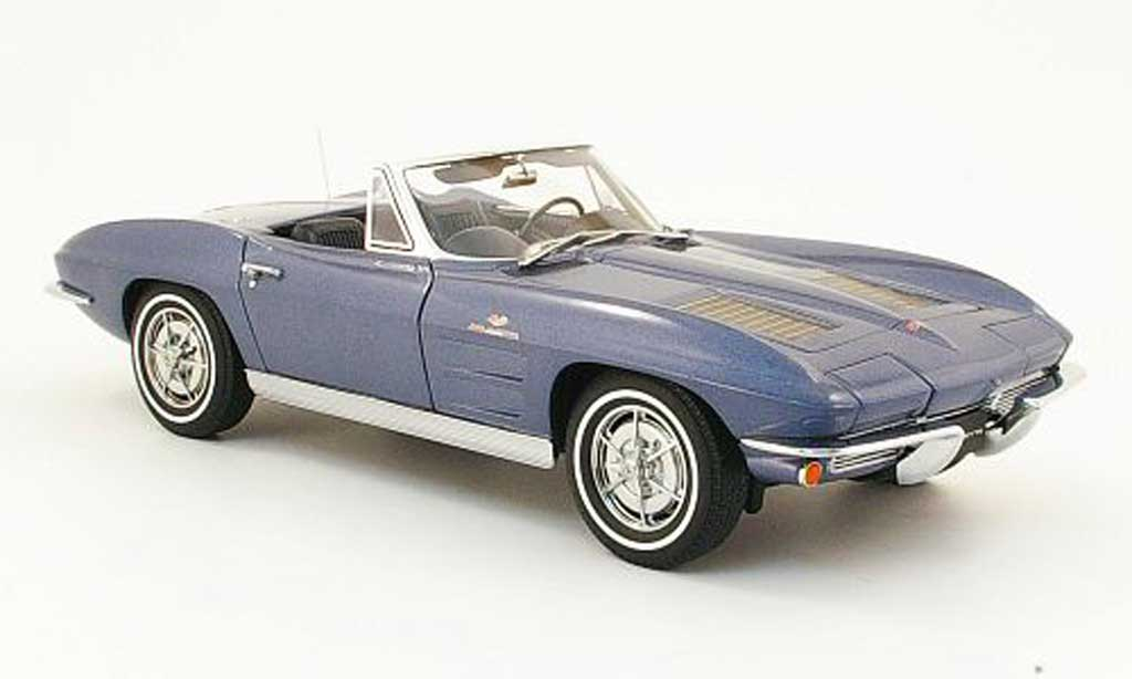 Chevrolet Corvette C2 1/18 Autoart bleu 1963 diecast model cars