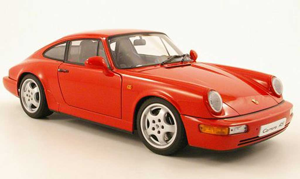 Porsche 964 Rs Carrera Red 1992 Autoart Diecast Model Car