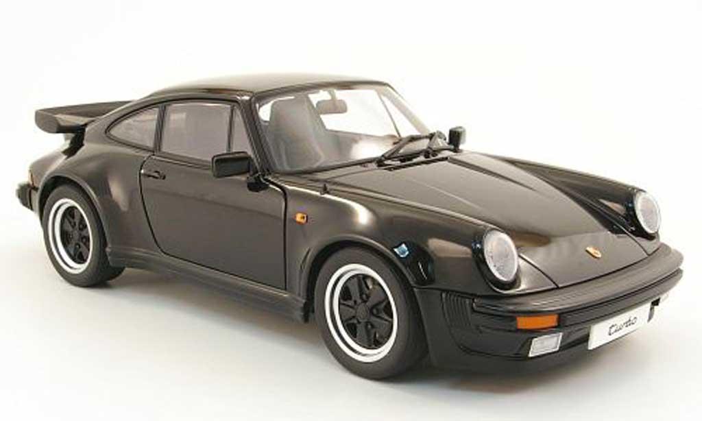 porsche 911 turbo miniature 3 3 noire autoart 1 18. Black Bedroom Furniture Sets. Home Design Ideas