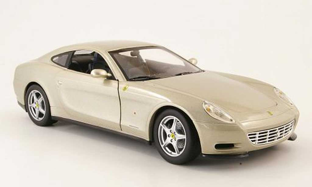 Ferrari 612 1/18 Hot Wheels scaglietti champagne miniature