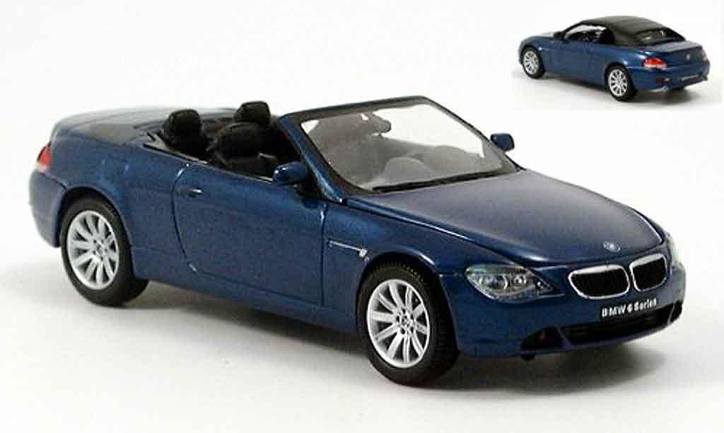 Bmw 645 E64 1/43 Kyosho CI Cabriolet bleu miniatura