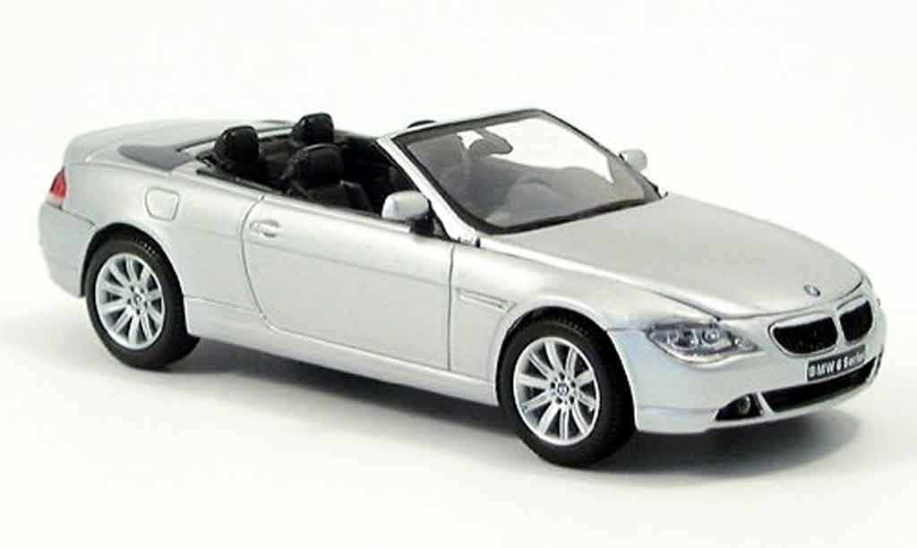 Bmw 645 E64 CI Cabriolet grigio Verdeck liegt bei Kyosho. Bmw 645 E64 CI Cabriolet grigio Verdeck liegt bei modellini 1/43
