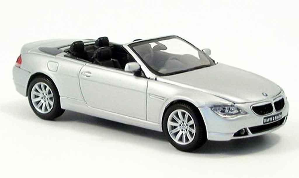 Bmw 645 E64 1/43 Kyosho CI Cabriolet grise metallisee Verdeck liegt bei miniature