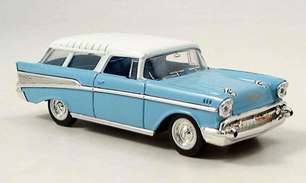 Chevrolet Nomad 1/43 Yat Ming bleu 1957 miniature