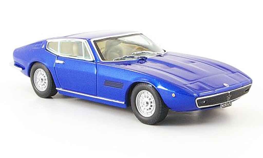 Maserati Ghibli coupe 1/43 IXO ss bleu miniature