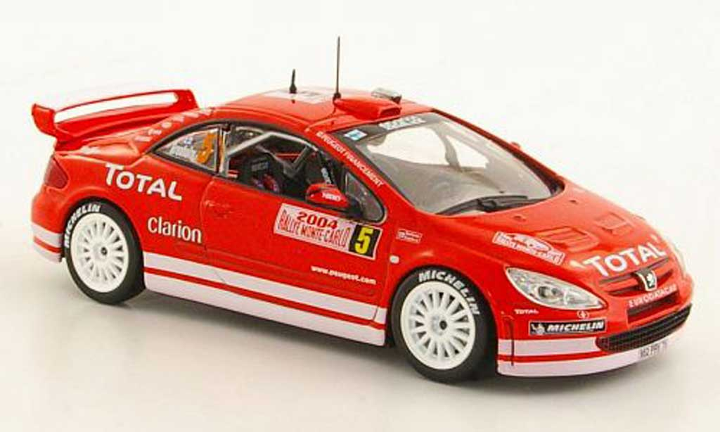 Peugeot 307 WRC 1/43 Norev No.5 Total Gronholm / Rautiainen Rally Monte Carlo 2004 miniature