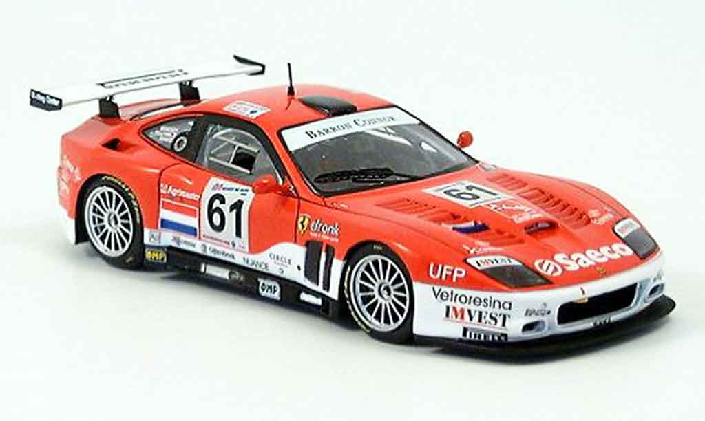 Ferrari 575 M 1/43 Red Line maranello barron connor no. 61 lm 2004 miniature
