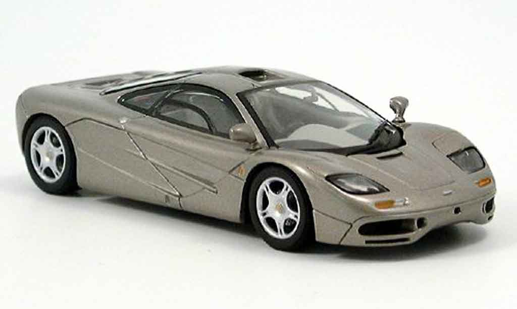 McLaren F1 1/43 Minichamps GTR platingrise miniature
