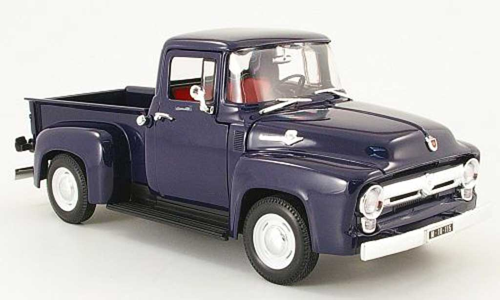 Ford F100 1/18 Welly pick up bleu 1956 miniature