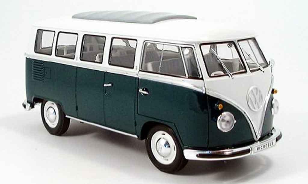 Volkswagen Combi 1/18 Spark bus grun/blanche 1962 miniature