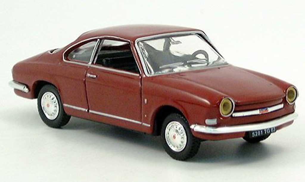 Simca 1000 1/43 Norev Coupe black-red  diecast
