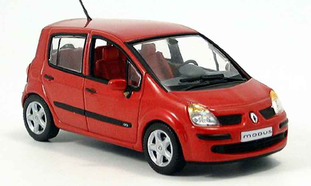 renault modus miniature rouge 2004 norev 1 43 voiture. Black Bedroom Furniture Sets. Home Design Ideas
