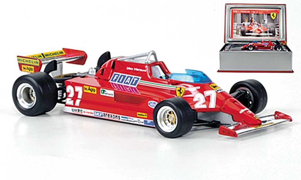 Ferrari 126 1981 1/43 IXO C2 No. 27 G.Villeneuve GP Monaco miniature