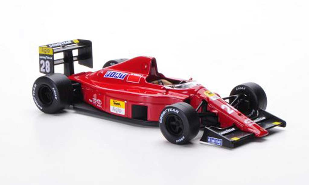 Ferrari F1 1989 1/43 IXO 640 89c No.29 G.Berger GP Portugal 1989 miniature