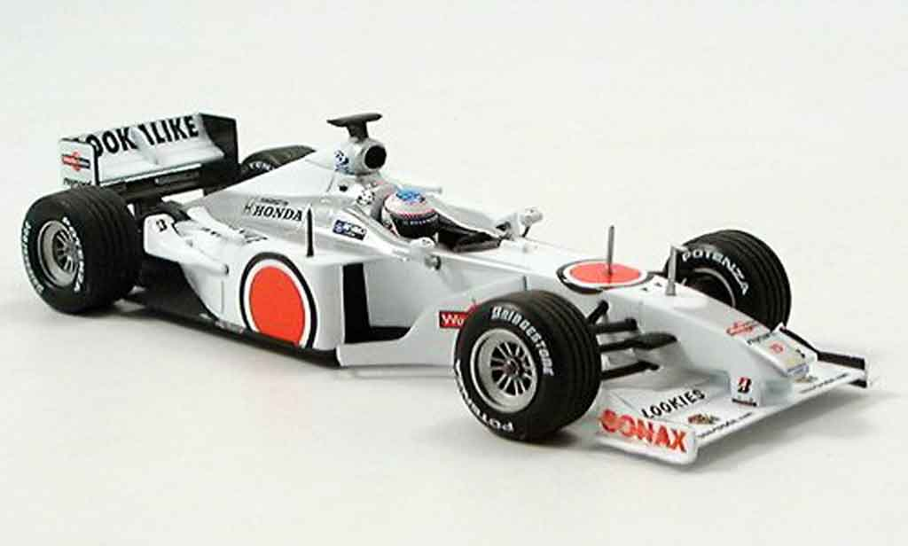 Honda F1 1/43 Minichamps BAR 002 T. Sato 1. Test Barcelona 2000 miniature