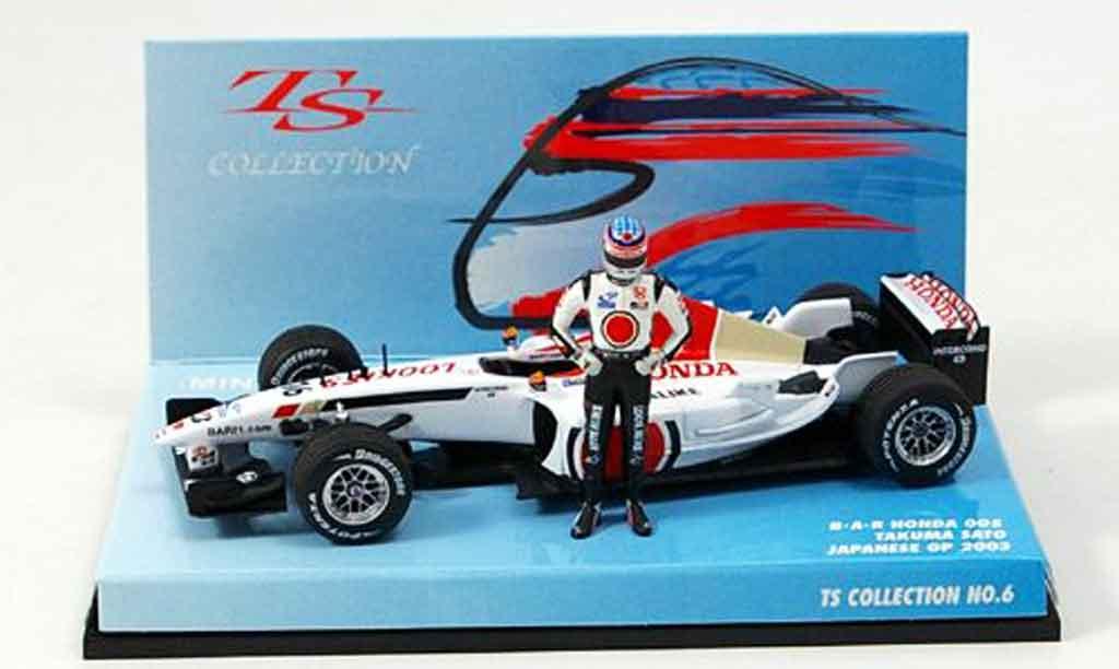 Honda F1 1/43 Minichamps BAR 005 T. Sato GP Japan 2002 miniature