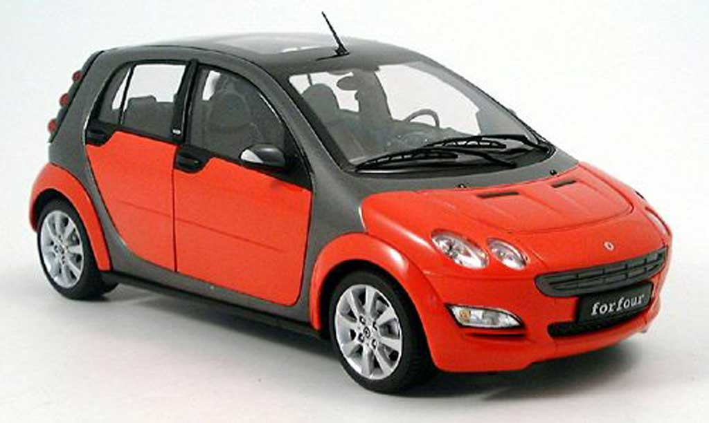 Smart ForFour 1/18 Kyosho rouge grise 2004 miniature
