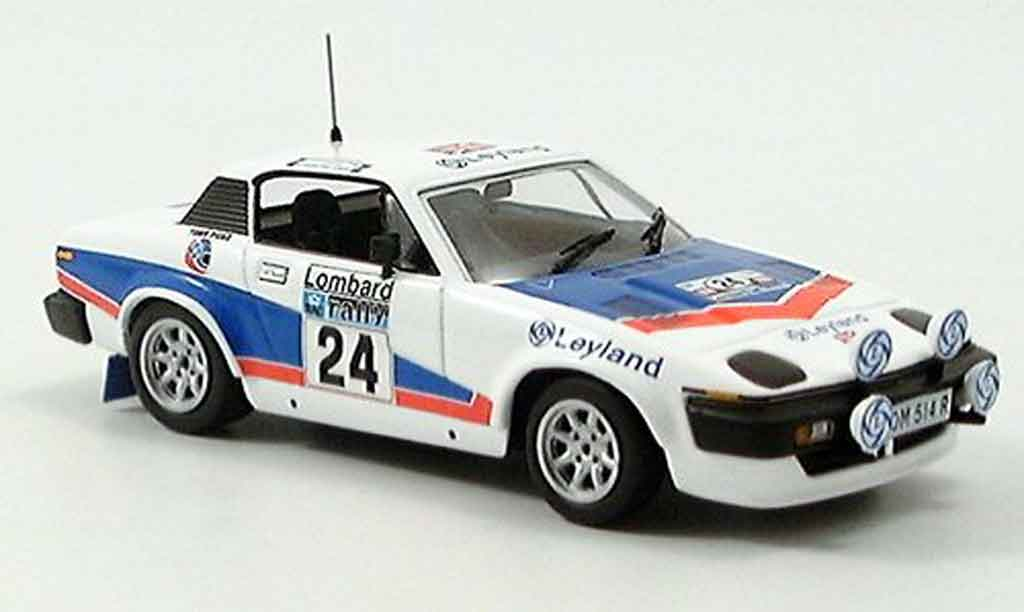 Triumph TR7 1977 1/43 IXO No.24 Pond Gallagher RAC Rallye miniature