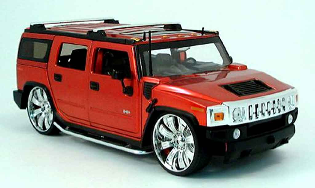 hummer h2 rot tuning 2003 jada toys modellauto 1 18 kaufen verkauf modellauto online. Black Bedroom Furniture Sets. Home Design Ideas