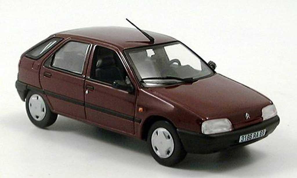 Citroen Zx Miniature Rouge Norev 1 43 Voiture Miniature Com