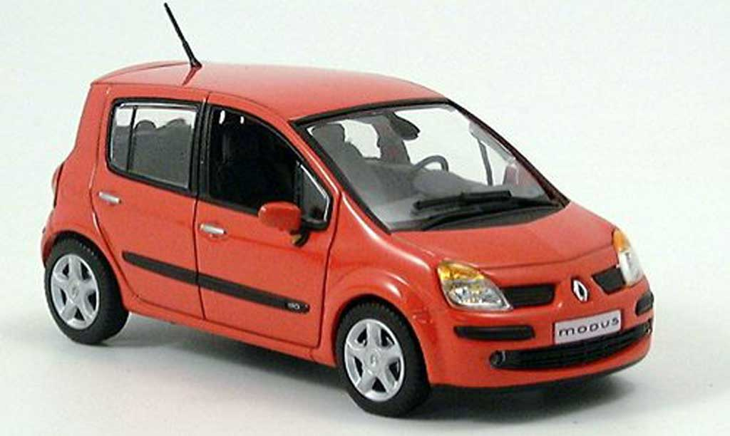 renault modus miniature rouge orange 2004 norev 1 43 voiture. Black Bedroom Furniture Sets. Home Design Ideas