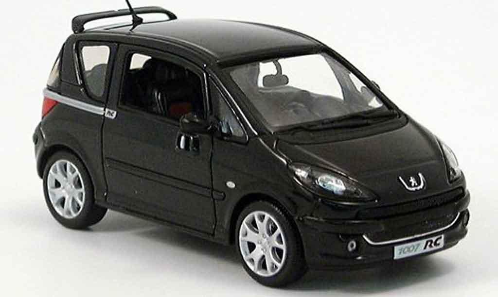 Peugeot 1007 1/43 Norev rc noire 2004 miniature