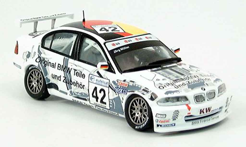 Bmw 320 E46 1/43 Spark i 3er No. 42 Jorg Muller 2002 diecast model cars