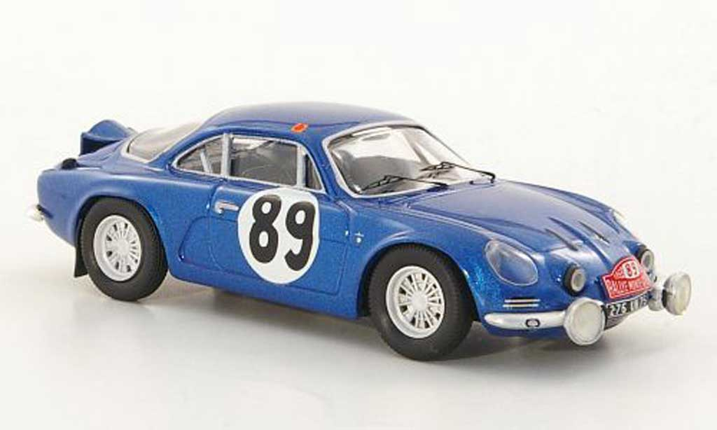 Alpine A110 1/43 Trofeu 1600 S No.89 Vinatier / Jacob Rally Monte Carlo 1968 miniature