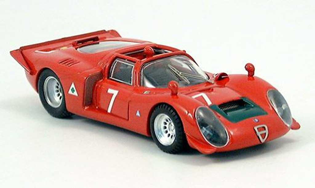 Alfa Romeo 33.2 1968 1/43 Best Spyder No.7 Facetti/Biscaldi Mugello miniature