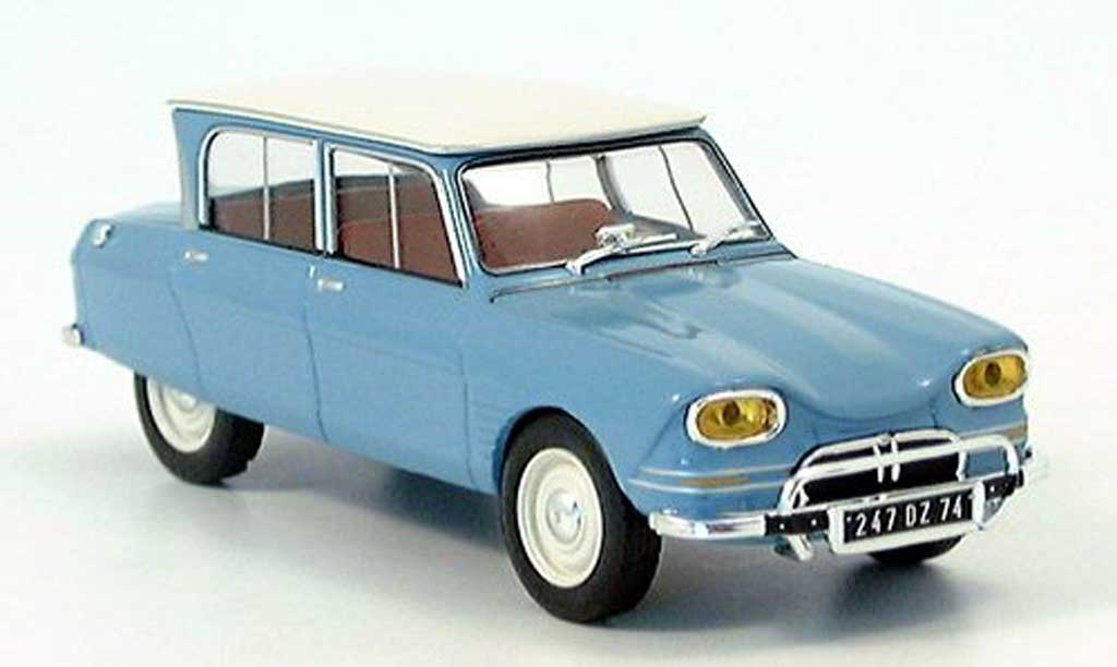 citroen ami 6 miniature bleu blanche ixo 1 43 voiture. Black Bedroom Furniture Sets. Home Design Ideas