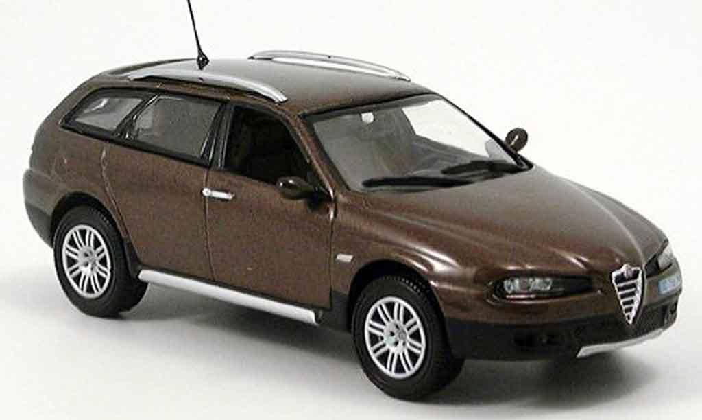 Alfa Romeo Crosswagon Miniature Marron Norev 1 43
