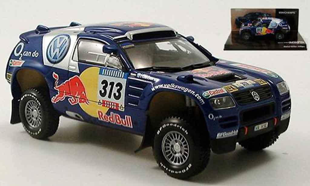 Volkswagen Touareg 1/43 Minichamps rallye dakar kankkunen repo 2005 miniature