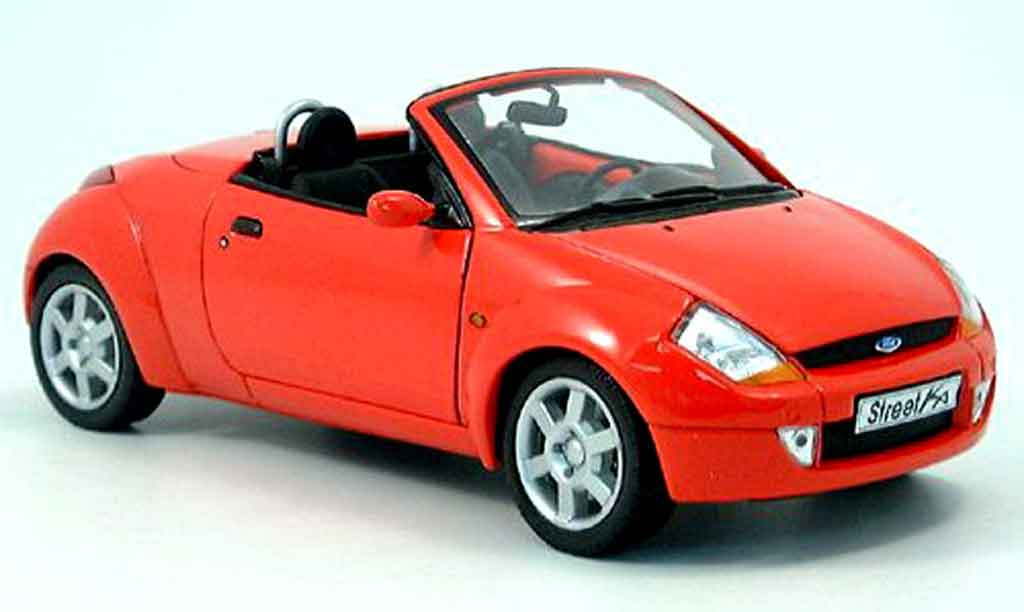 ford street ka miniature rouge welly 1 18 voiture. Black Bedroom Furniture Sets. Home Design Ideas