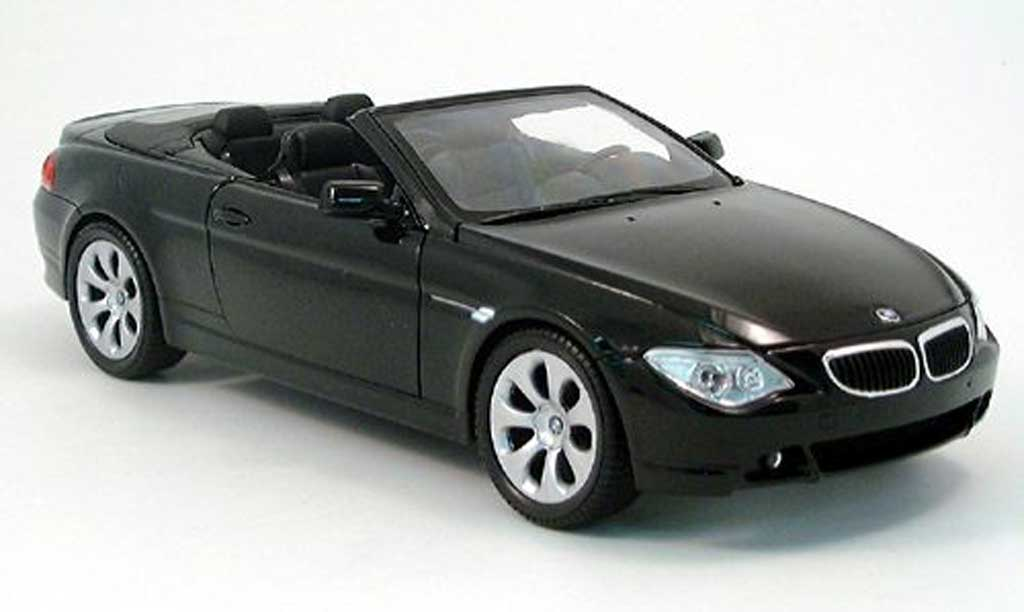 Bmw 645 E64 1/18 Welly ci cabriolet black 2004 diecast model cars