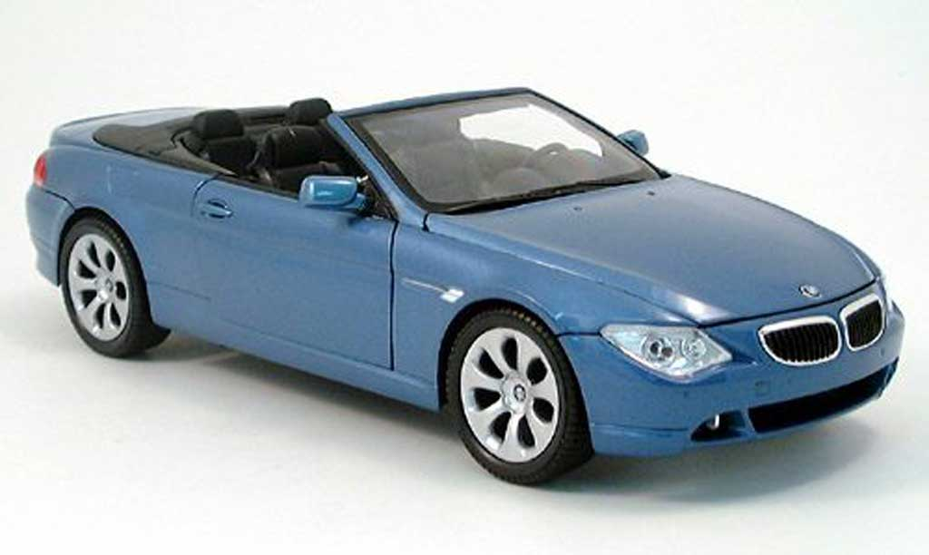 Bmw 645 E64 1/18 Welly ci cabriolet bleu 2004
